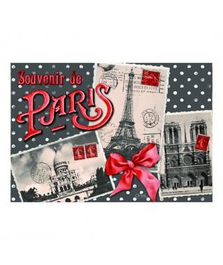 Salvamanteles vintage Souvenir de Paris Orval Creations