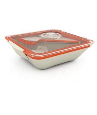Lunch Box-tartera para el trabajo color Naranja & Bolsa Negra