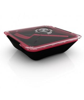 Lunch Box o tartera para el trabajo color Negra & Bolsa Negra